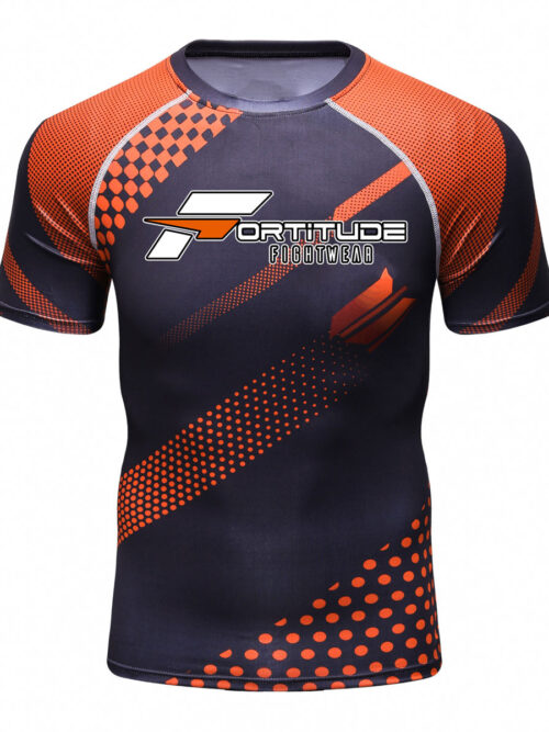 Fortitude Fightwear MMA Rashguard Orange