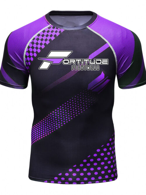 Fortitude Fightwear MMA Rashguard Purple